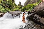 Hawaiian native, Iao Valley, Maui, Hawaii, United States of America, Pacific Stock Photo - Premium Rights-Managed, Artist: Robert Harding Images, Code: 841-06499703