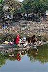 Washing vessels in the backyard of the house, Gujarat, India, Asia Stock Photo - Premium Rights-Managed, Artist: Robert Harding Images, Code: 841-06499793