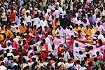 People forming a chain during the Ganesha idol procession to immersion, Mumbai, Maharashtra, India, Asia Stock Photo - Premium Rights-Managed, Artist: Robert Harding Images, Code: 841-06499811