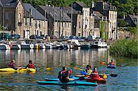 Canoe kayaks on River Rance, Dinan, Brittany, France, Europe Stock Photo - Premium Rights-Managednull, Code: 841-06500009