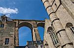 St. Melaine church dating from the 15th century, flamboyant gothic, and Viaduct, Morlaix, Finistere, Brittany, France, Europe Stock Photo - Premium Rights-Managed, Artist: Robert Harding Images, Code: 841-06500021
