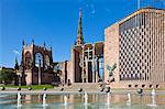 Coventry old cathedral shell and new modern cathedral, Coventry, West Midlands, England, United Kingdom, Europe Stock Photo - Premium Rights-Managed, Artist: Robert Harding Images, Code: 841-06500037