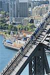 People walking on Sydney Harbour Bridge, Sydney, New South Wales, Australia, Pacific Stock Photo - Premium Rights-Managed, Artist: Robert Harding Images, Code: 841-06500156