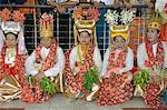 The queens and the ministers at the biggest Nat ritual (Festival of Spirits) in Taungbyon, Mandalay Division, Republic of the Union of Myanmar (Burma), Asia Stock Photo - Premium Rights-Managed, Artist: Robert Harding Images, Code: 841-06500201