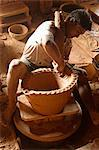Potter in Nwe Nyein, a pottery town along the Irrawaddy river, Mandalay Division, Republic of the Union of Myanmar (Burma), Asia Stock Photo - Premium Rights-Managed, Artist: Robert Harding Images, Code: 841-06500210