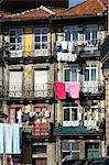 Flats in a residential street with traditional wrought iron balconies, washing hanging out in the sunshine, Oporto, Portugal, Europe Stock Photo - Premium Rights-Managed, Artist: Robert Harding Images, Code: 841-06500351