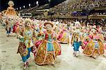 Carnival parade at the Sambodrome, Rio de Janeiro, Brazil, South America Stock Photo - Premium Rights-Managed, Artist: Robert Harding Images, Code: 841-06500369