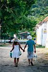 Couple walking in the historic part Parati, Rio de Janeiro State, Brazil, South America Stock Photo - Premium Rights-Managed, Artist: Robert Harding Images, Code: 841-06500441