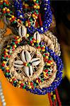Candomble wear strings of beads made of seeds and shells in the colours of African gods. Cachoeira, Bahia, Brazil. Stock Photo - Premium Rights-Managed, Artist: Robert Harding Images, Code: 841-06500477
