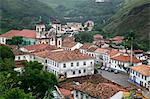 A view over the city of Ouro Preto, UNESCO World Heritage Site, Minas Gerais, Brazil, South America Stock Photo - Premium Rights-Managed, Artist: Robert Harding Images, Code: 841-06500501