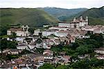 A view over the town of Ouro Preto from near the church of Sao Francisco de Paula, Ouro Preto, UNESCO World Heritage Site, Minas Gerais, Brazil, South America Stock Photo - Premium Rights-Managed, Artist: Robert Harding Images, Code: 841-06500503