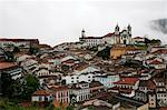 A view over the town of Ouro Preto from near the church of Sao Francisco de Paula, Ouro Preto, UNESCO World Heritage Site, Minas Gerais, Brazil, South America Stock Photo - Premium Rights-Managed, Artist: Robert Harding Images, Code: 841-06500504