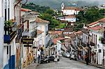 Street scene with colonial buildings in Ouro Preto, UNESCO World Heritage Site, Minas Gerais, Brazil, South America Stock Photo - Premium Rights-Managed, Artist: Robert Harding Images, Code: 841-06500508