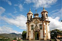 Sao Francisco de Assis church, Ouro Preto, UNESCO World Heritage Site, Minas Gerais, Brazil, South America Stock Photo - Premium Rights-Managednull, Code: 841-06500513