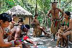 Pataxo Indian people at the Reserva Indigena da Jaqueira near Porto Seguro, Bahia, Brazil, South America Stock Photo - Premium Rights-Managed, Artist: Robert Harding Images, Code: 841-06500528