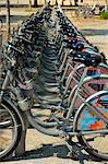 Cycle hire at the tram station, Esplanade Des Quinconces, Bordeaux, Gironde, Aquitaine, France, Europe Stock Photo - Premium Rights-Managed, Artist: Robert Harding Images, Code: 841-06501074