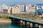 Rungna Bridge spanning the river Taedong in central Pyongyang, Democratic People's Republic of Korea (DPRK), North Korea, Asia Stock Photo - Premium Rights-Managed, Artist: Robert Harding Images, Code: 841-06501215