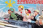 Propaganda poster, Wonsan City, Democratic People's Republic of Korea (DPRK), North Korea, Asia Stock Photo - Premium Rights-Managed, Artist: Robert Harding Images, Code: 841-06501241