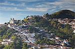 View of Santa Efigenia dos Pretos Church and hillside houses, Ouro Preto, UNESCO World Heritage Site, Minas Gerais, Brazil, South America Stock Photo - Premium Rights-Managed, Artist: Robert Harding Images, Code: 841-06501372