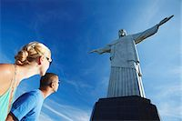 south american woman - Couple at Christ the Redeemer statue (Cristo Redentor), Corcovado, Rio de Janeiro, Brazil, South America Stock Photo - Premium Rights-Managednull, Code: 841-06501602