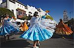 Women dancing in festival in Plaza 25 de Mayo, Sucre, UNESCO World Heritage Site, Bolivia, South America Stock Photo - Premium Rights-Managed, Artist: Robert Harding Images, Code: 841-06501610
