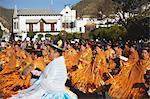 Women dancing in festival in Plaza 25 de Mayo, Sucre, UNESCO World Heritage Site, Bolivia, South America Stock Photo - Premium Rights-Managed, Artist: Robert Harding Images, Code: 841-06501613