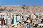 View of downtown La Paz, Bolivia, South America Stock Photo - Premium Rights-Managed, Artist: Robert Harding Images, Code: 841-06501739