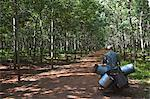 Rubber worker in rubber plantation, Kampong Cham, Cambodia, Indochina, Southeast Asia, Asia Stock Photo - Premium Rights-Managed, Artist: Robert Harding Images, Code: 841-06501940