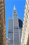Willis Tower, formerly the Sears Tower, completed in 1973, at the time it was the tallest building in the world, Chicago, Illinois, United States of America, North America Stock Photo - Premium Rights-Managed, Artist: Robert Harding Images, Code: 841-06502027