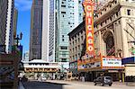 Chicago Theater, State Street, Chicago, Illinois, United States of America, North America Stock Photo - Premium Rights-Managed, Artist: Robert Harding Images, Code: 841-06502033