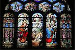 Stained glass window depicting the Nativity, St. Eustache church, Paris, France, Europe Stock Photo - Premium Rights-Managed, Artist: Robert Harding Images, Code: 841-06502116