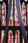 Stained glass windows, Church of Notre-Dame du Perpetuel Secours, Paris, France, Europe Stock Photo - Premium Rights-Managed, Artist: Robert Harding Images, Code: 841-06502117