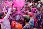 Dancers celebrating Holi festival in Barsana temple, Barsana, Uttar Pradesh, India, Asia Stock Photo - Premium Rights-Managed, Artist: Robert Harding Images, Code: 841-06502138