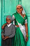 Indian mother and son, Nandgaon, Uttar Pradesh, India, Asia Stock Photo - Premium Rights-Managed, Artist: Robert Harding Images, Code: 841-06502159