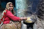 Woman cooking, Mathura, Uttar Pradesh, India, Asia Stock Photo - Premium Rights-Managed, Artist: Robert Harding Images, Code: 841-06502210