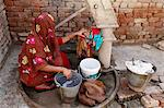 Woman doing laundry, Mathura, Uttar Pradesh, India, Asia Stock Photo - Premium Rights-Managed, Artist: Robert Harding Images, Code: 841-06502211