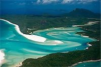 queensland - Aerial of Whitehaven in the Whit Sunday Islands, Queensland, Australia, Pacific Stock Photo - Premium Rights-Managednull, Code: 841-06502293
