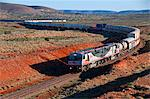 Train travelling through the Outback of South Australia, Australia, Pacific Stock Photo - Premium Rights-Managed, Artist: Robert Harding Images, Code: 841-06502397