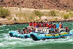 Rafting down the Colorado River through turbulent waters of the Grand Canyon, Arizona, United States of America, North America Stock Photo - Premium Rights-Managed, Artist: Robert Harding Images, Code: 841-06502486