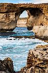 Famous sea arch, the Azure Window, Gozo, Malta, Mediterranean, Europe Stock Photo - Premium Rights-Managed, Artist: Robert Harding Images, Code: 841-06502516