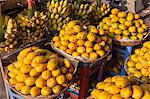 Mangos and bananas, Central Market, Phnom Penh, Cambodia, Indochina, Southeast Asia, Asia Stock Photo - Premium Rights-Managed, Artist: Robert Harding Images, Code: 841-06502582
