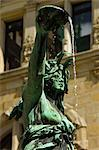 Neo-renaissance statue in a fountain at the Hamburg Rathaus (City Hall), opened 1886, Hamburg, Germany, Europe Stock Photo - Premium Rights-Managed, Artist: Robert Harding Images, Code: 841-06502615