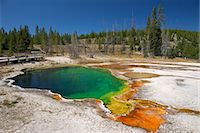 Abyss Pool, West Thumb Geyser Basin, Yellowstone National Park, UNESCO World Heritage Site, Wyoming, United States of America, North America Stock Photo - Premium Rights-Managednull, Code: 841-06502657