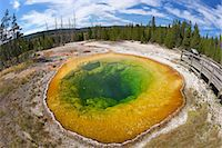 Morning Glory Pool, Upper Geyser Basin, Yellowstone National Park, UNESCO World Heritage Site, Wyoming, United States of America, North America Stock Photo - Premium Rights-Managednull, Code: 841-06502669