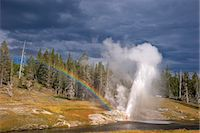 Riverside Geyser, Upper Geyser Basin, Yellowstone National Park, UNESCO World Heritage Site, Wyoming, United States of America, North America Stock Photo - Premium Rights-Managednull, Code: 841-06502670