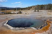 Crested Pool, Upper Geyser Basin, Yellowstone National Park, UNESCO World Heritage Site, Wyoming, United States of America, North America Stock Photo - Premium Rights-Managednull, Code: 841-06502675
