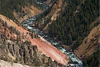 Grand Canyon of the Yellowstone River, from Inspiration Point, Yellowstone National Park, UNESCO World Heritage Site, Wyoming, United States of America, North America Stock Photo - Premium Rights-Managednull, Code: 841-06502705