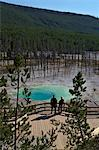 Visitors at Cistern Spring, Norris Geyser Basin, Yellowstone UNESCO World Heritage Site, Wyoming, United States of America, North America Stock Photo - Premium Rights-Managed, Artist: Robert Harding Images, Code: 841-06502720