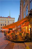 stockholm - Stortorget Square cafes at dusk, Gamla Stan, Stockholm, Sweden, Scandinavia, Europe Stock Photo - Premium Rights-Managednull, Code: 841-06502831