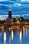 The City Hall at night, Kungsholmen, Stockholm, Sweden, Scandinavia, Europe Stock Photo - Premium Rights-Managed, Artist: Robert Harding Images, Code: 841-06502840